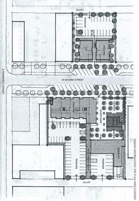 "A sketch of Roosevelt Housing Associates' ""The Row"" proposal, which was selected by the evaluation panel for approval by the Downtown, Aviation and Redevelopment Subcommittee. (City of Phoenix public records)"