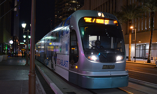 I know nothing about this app, but here's a photo of the light rail. (Amanda LaCasse/DD)