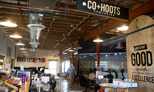 The new CO+HOOTS location, on Indianola Avenue and Second Street, will hold five times more businesses than the current space on Washington and 11th streets. (Courtney Pedroza/DD)