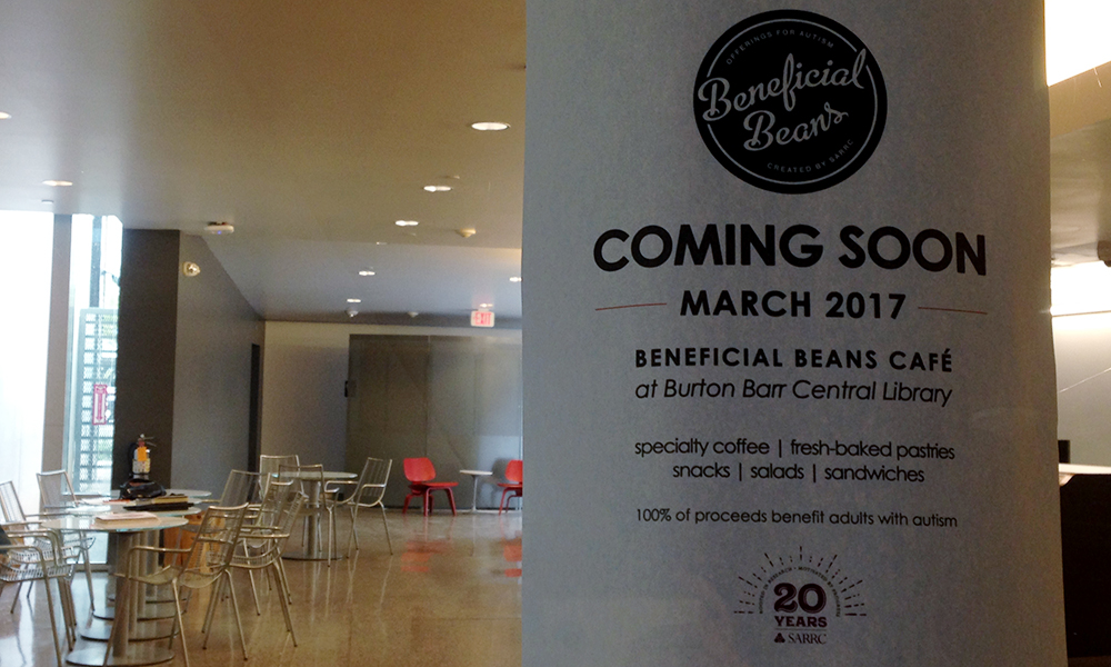 Beneficial Beans Café will open in Burton Barr Central Library in March. (Holly Bernstein/DD)
