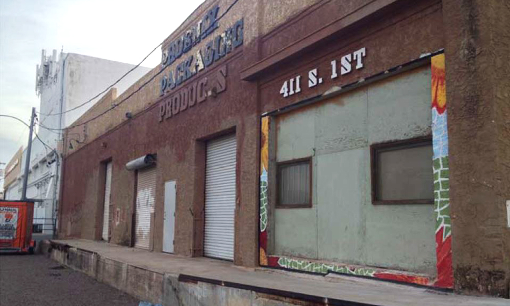 The Stucco On The Arizona Sash And Door Company Warehouse On South 1st St  In Downtown