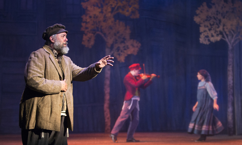 Tevye, played by Eric Polani Jensen, performs in a production of Fiddler on the Roof at the Herberger Theater. (Courtesy of Arizona Theatre Company)
