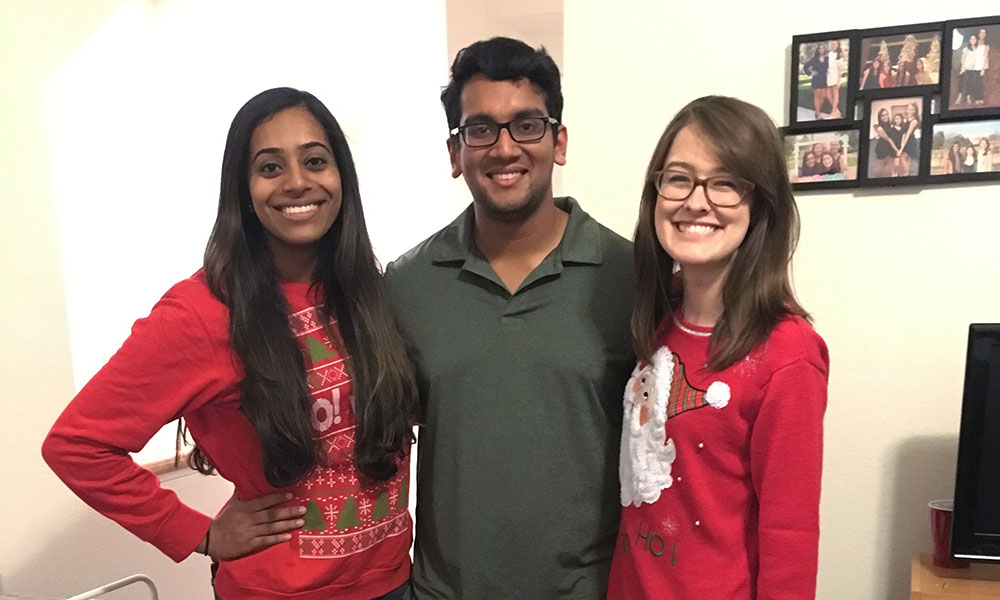 Downtown Devil's Executive Editor Sophia Kunthara, Editor-in-Chief Agnel Philip and Managing Editor Sarah Jarvis are graduating this year. (Downtown Devil)